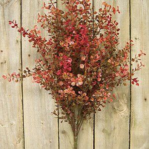 """Red Baby Grass 21"""" Faux Bush"""